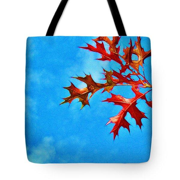 Leaves Against The Sky Tote Bag by Judi Bagwell