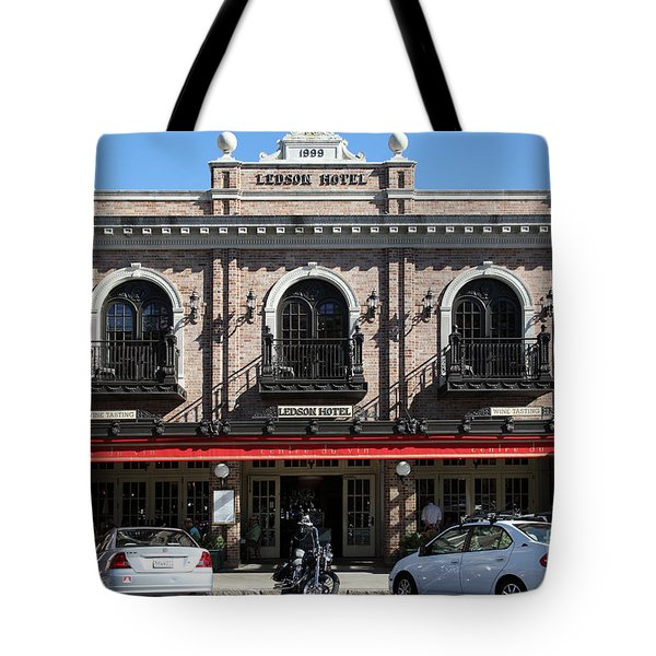 Ledson Hotel - Downtown Sonoma California - 5D19268 Tote Bag by Wingsdomain Art and Photography
