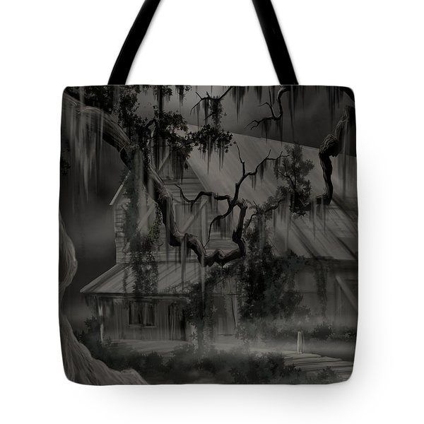 Legend Of The Old House In The Swamp Tote Bag by James Christopher Hill