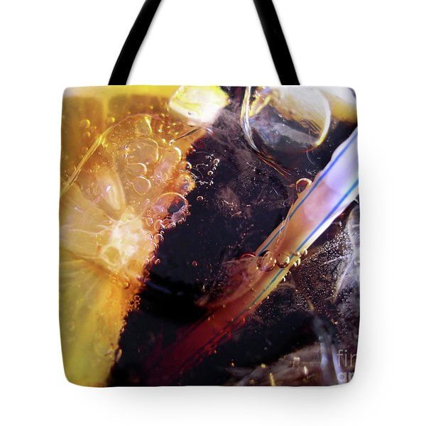 Lemon and Straw Tote Bag by Carlos Caetano