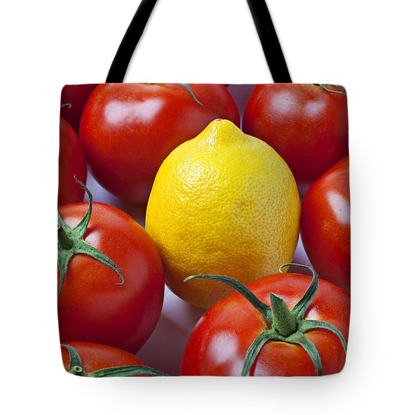 Lemon and tomatoes Tote Bag by Garry Gay