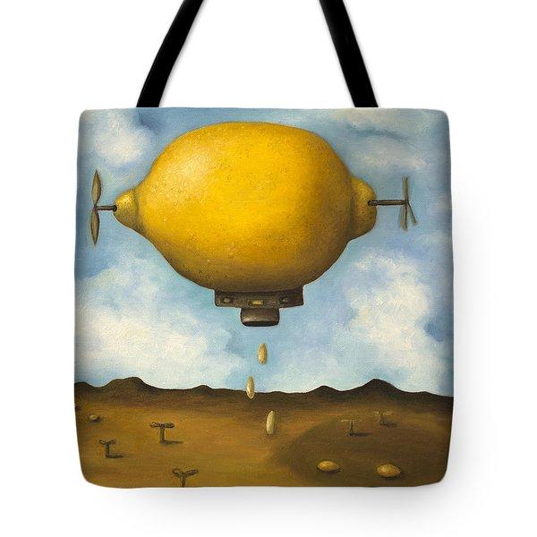Lemon Drops Tote Bag by Leah Saulnier The Painting Maniac