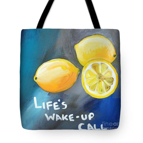 Lemons Tote Bag by Linda Woods