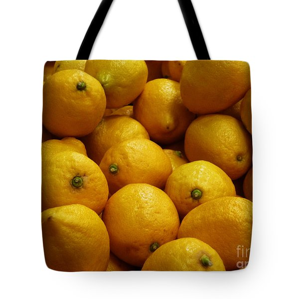 Lemons Tote Bag by Methune Hively