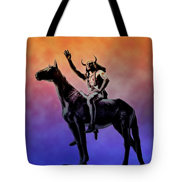 Lenape Indian Chief Tote Bag by Bill Cannon