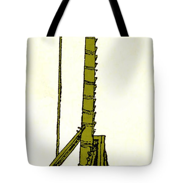 Leonardo Da Vincis Lifting Gear Tote Bag by Science Source