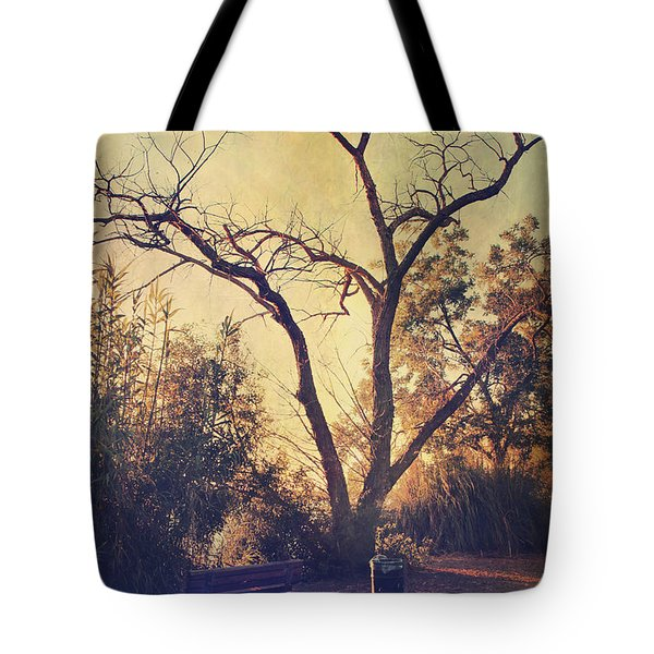 Let Us Sit Side By Side Tote Bag by Laurie Search