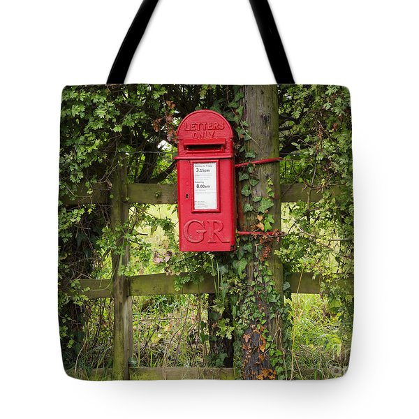 Letterbox In A Hedge Tote Bag by Louise Heusinkveld