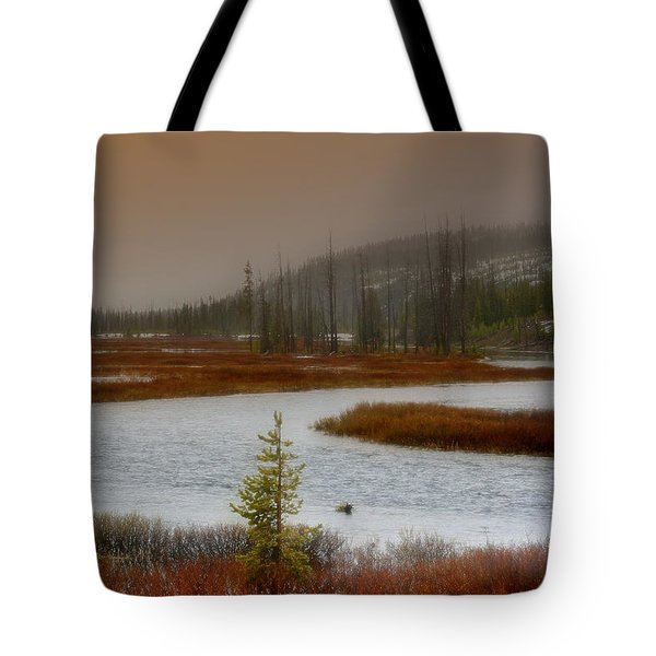 Lewis River - Yellowstone National Park Tote Bag by Ellen Heaverlo