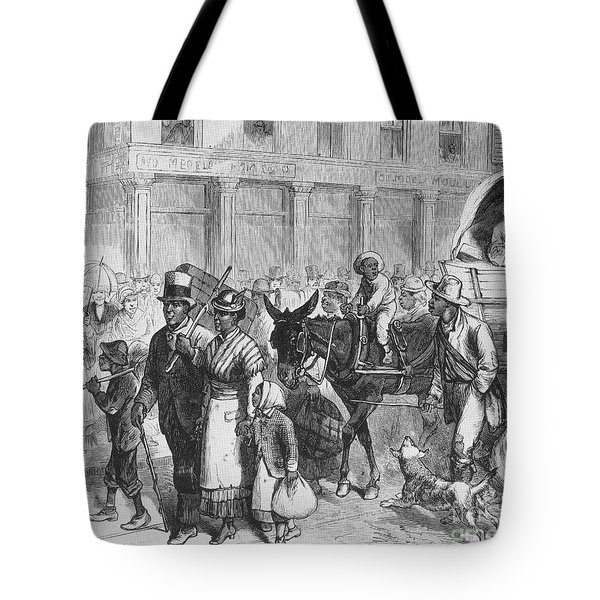 Liberated Slaves, 1861 Tote Bag by Photo Researchers