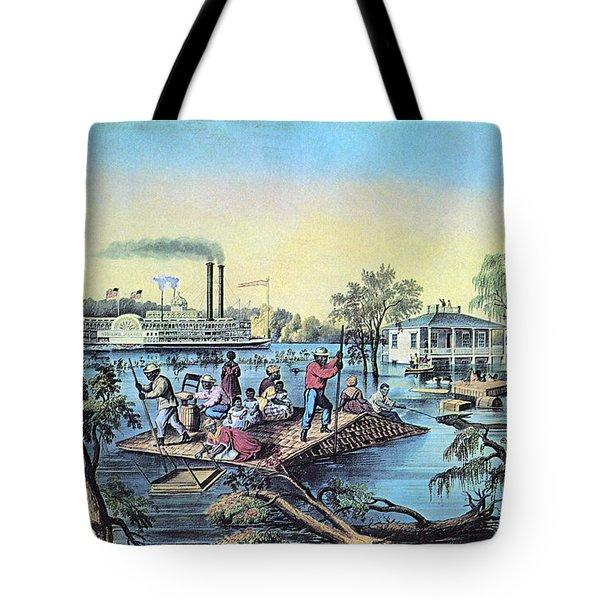 Life On The Mississippi, 1868 Tote Bag by Photo Researchers