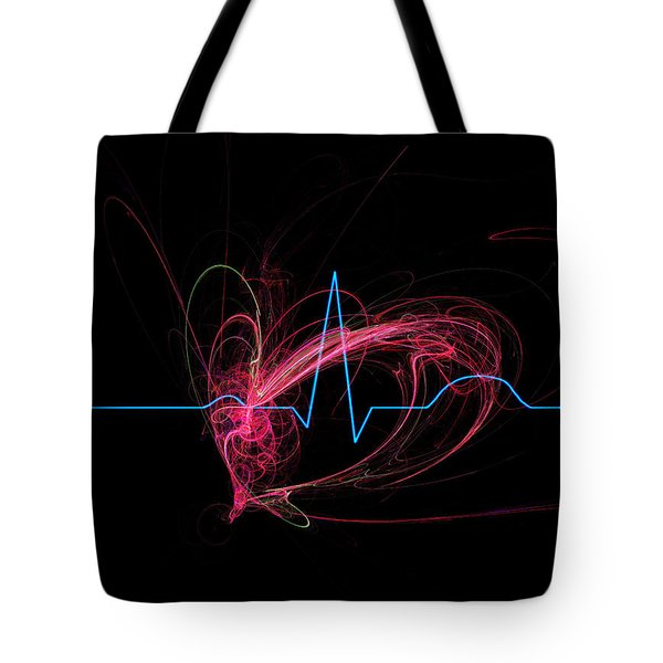 Life Signs Tote Bag by ADAM VANCE