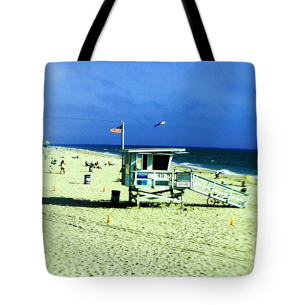 Lifeguard Shack Tote Bag by Scott Pellegrin