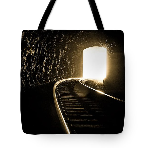 Light At The End Of The Tunnel Tote Bag by Joye Ardyn Durham