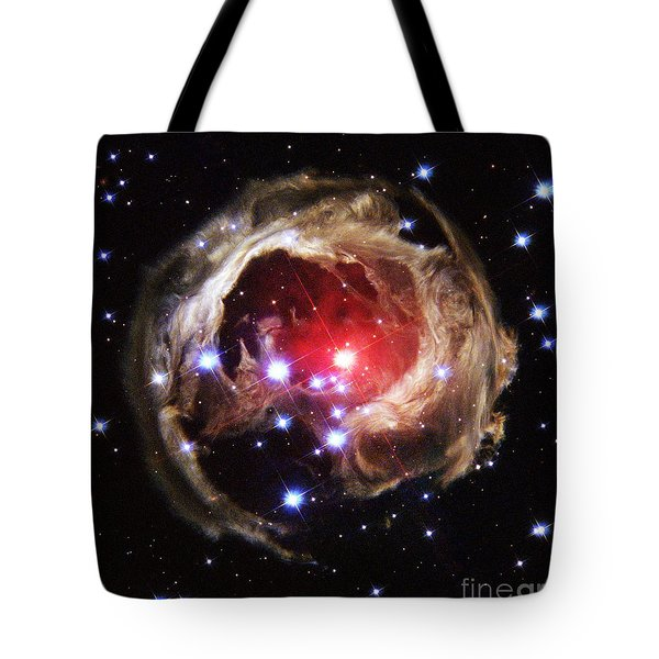 Light Echoes From Exploding Star Tote Bag by Space Telescope Science Institute / NASA