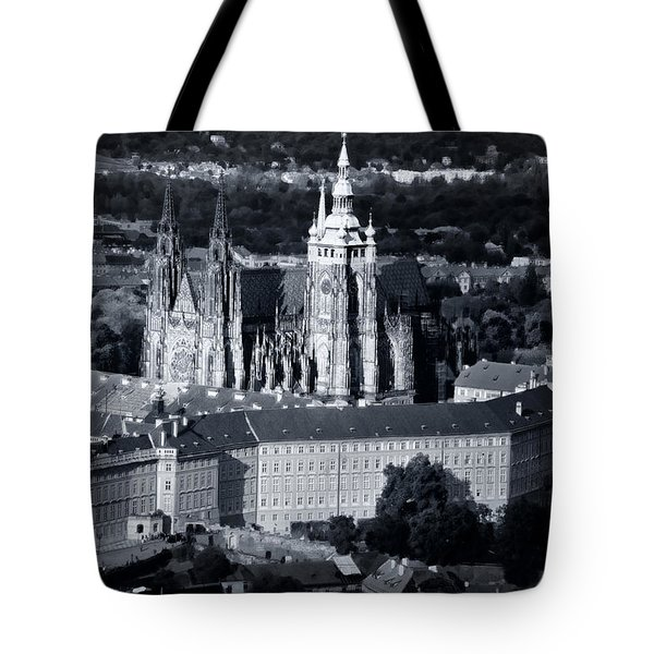Light On The Cathedral Tote Bag by Joan Carroll