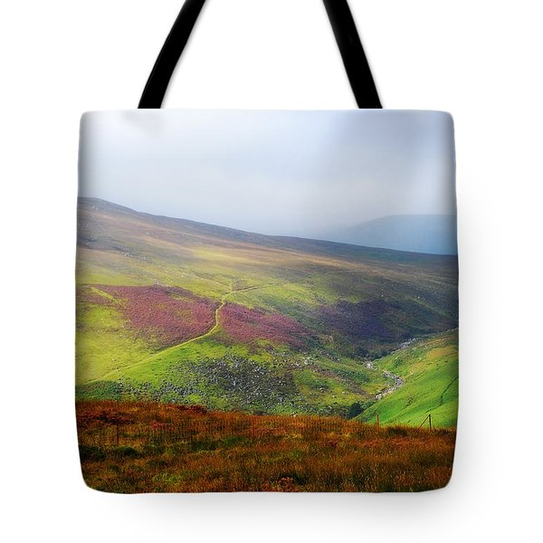 Light Over Wicklow Hills. Ireland Tote Bag by Jenny Rainbow