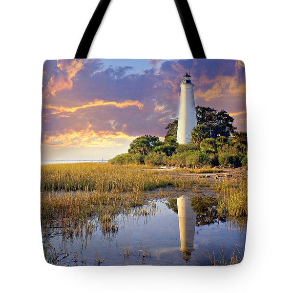 Lighthous Reflection 1 Tote Bag by Marty Koch