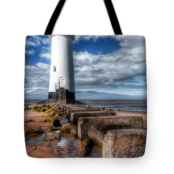 Lighthouse Entrance Tote Bag by Adrian Evans