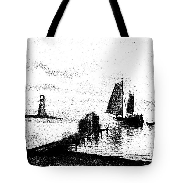 Lighthouse Point Tote Bag by George Pedro