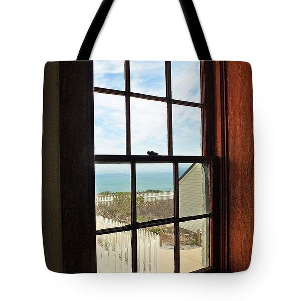 Lighthouse Window Tote Bag by Methune Hively