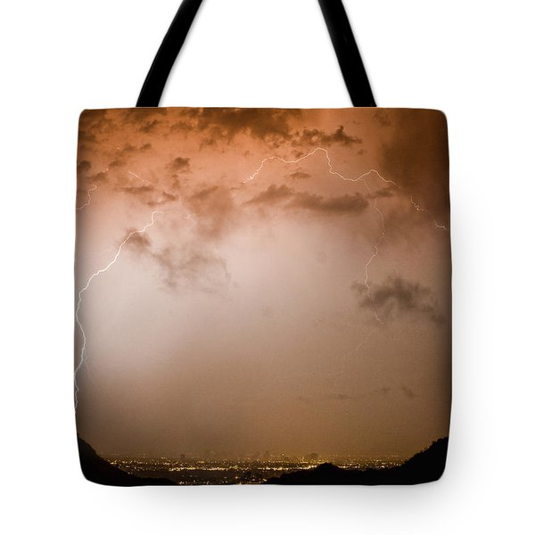 Lightning Dome Tote Bag by James BO  Insogna