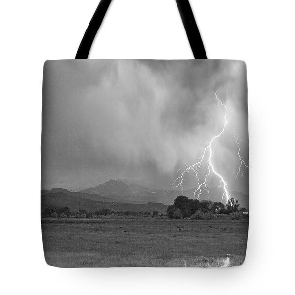 Lightning Striking Longs Peak Foothills 7cbw Tote Bag by James BO  Insogna