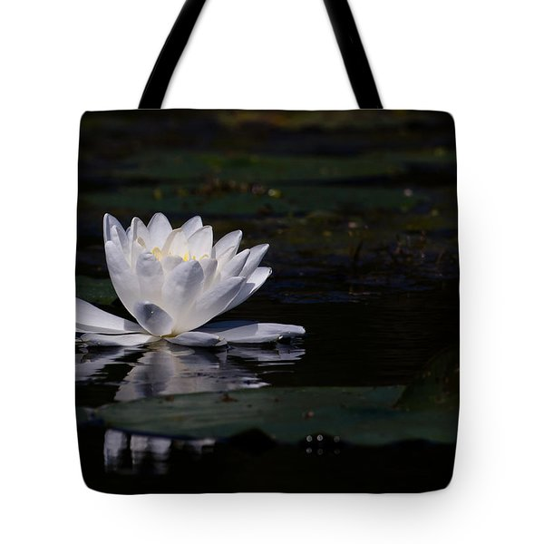 Lilly Of The Water Tote Bag by Michel Soucy