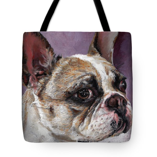 Lilly The French Bulldog Tote Bag by Enzie Shahmiri