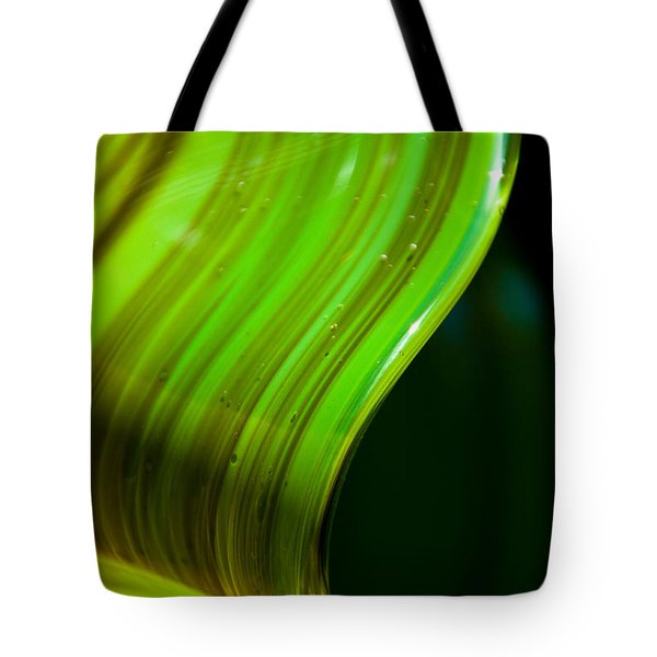 Lime Curl Tote Bag by Dana Kern