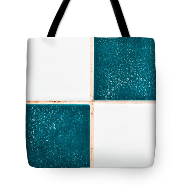 Limescale In Bathroom Tote Bag by Tom Gowanlock