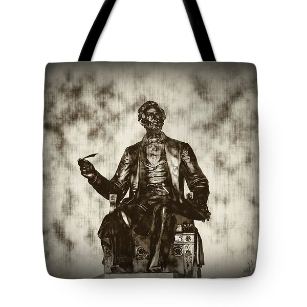 Lincoln - Pen In Hand Tote Bag by Bill Cannon