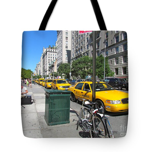 Lined Up for Business Tote Bag by Randi Shenkman