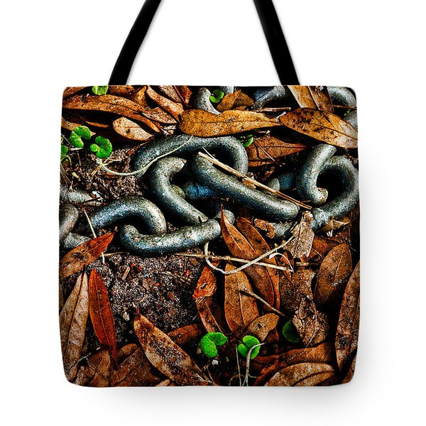 Links And Leaves Tote Bag by Christopher Holmes