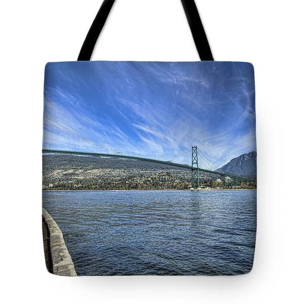 Lions Gate Bridge Tote Bag by Mauro Celotti