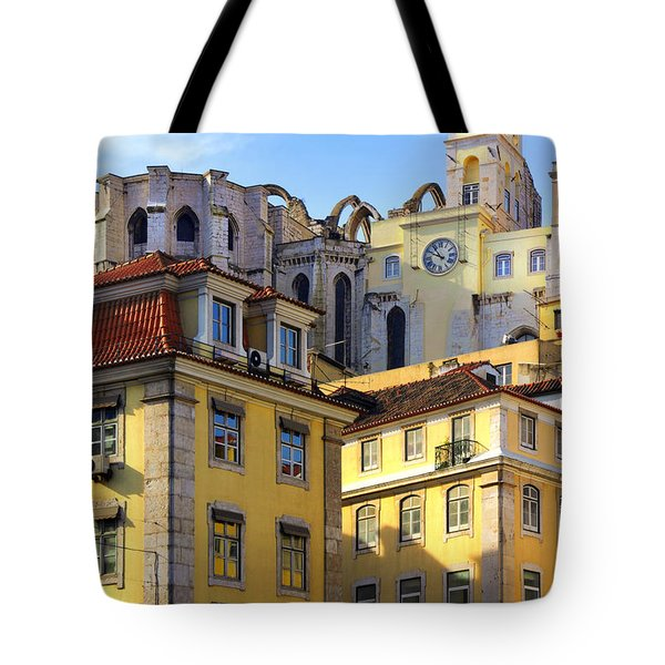 Lisbon Buildings Tote Bag by Carlos Caetano