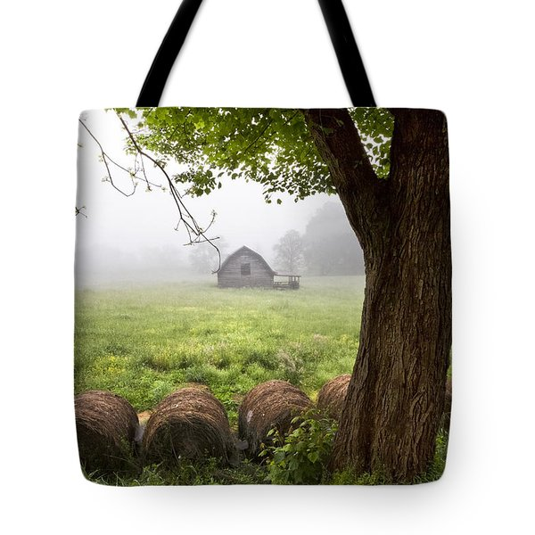 Little Barn Tote Bag by Debra and Dave Vanderlaan