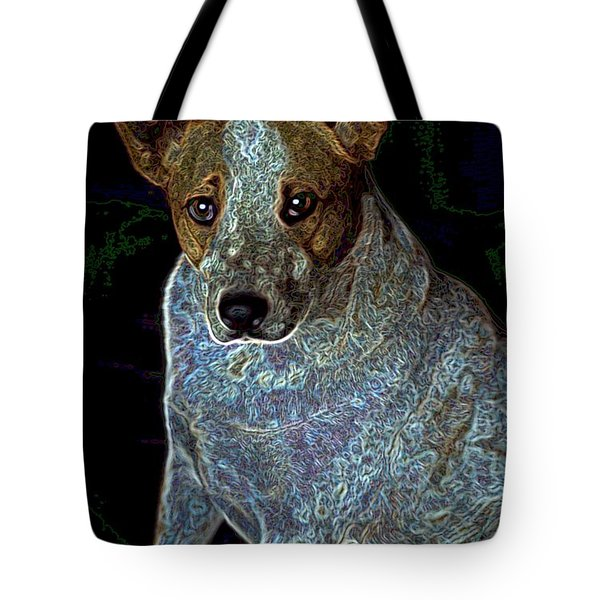 Little Blue Tote Bag by One Rude Dawg Orcutt