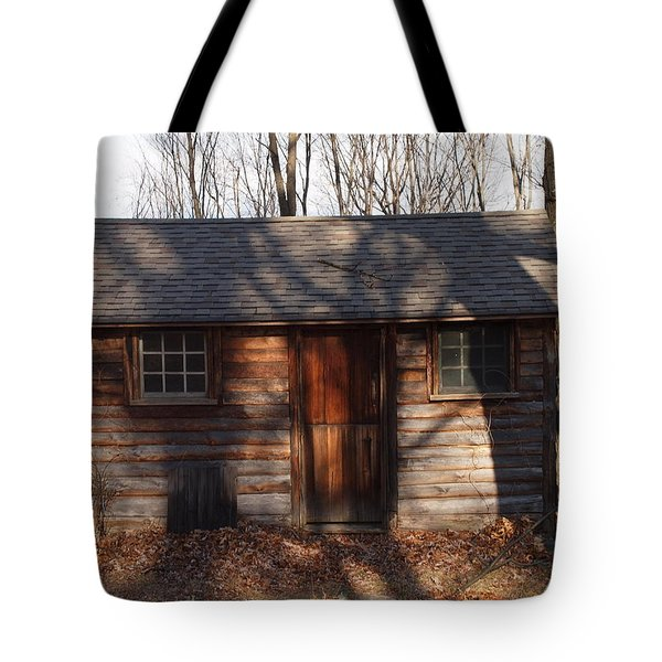 Little Cabin In The Woods Tote Bag by Robert Margetts