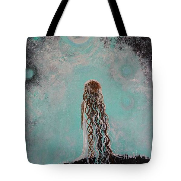 Little Galaxie Three Tote Bag by Leslie Allen