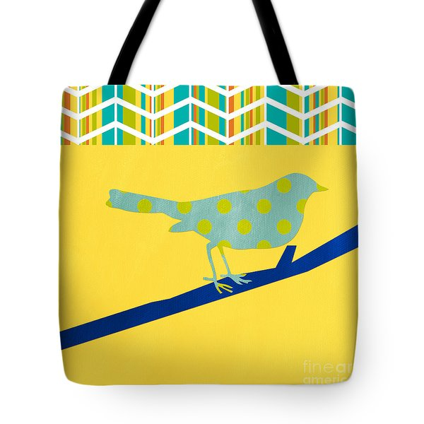 Little Song Bird Tote Bag by Linda Woods