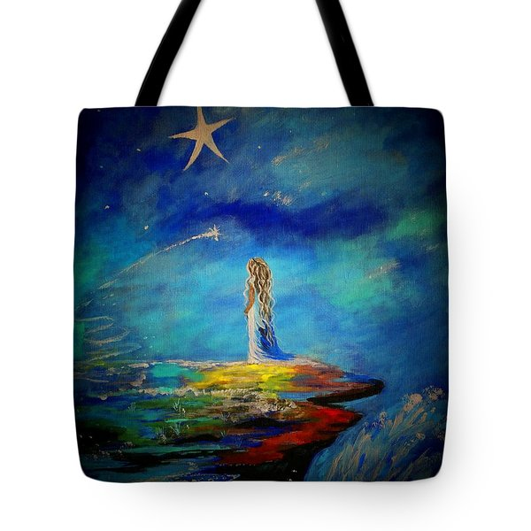 Little Wishes Too Tote Bag by Leslie Allen