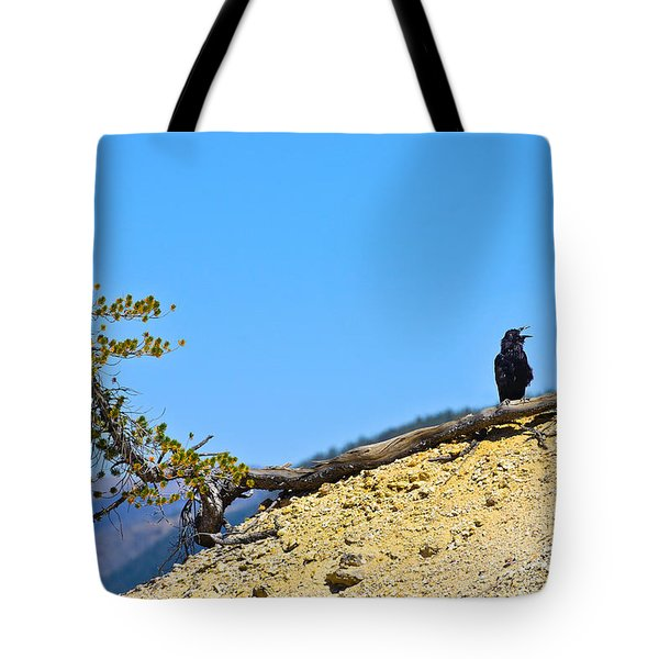 Living On The Edge Tote Bag by Greg Norrell
