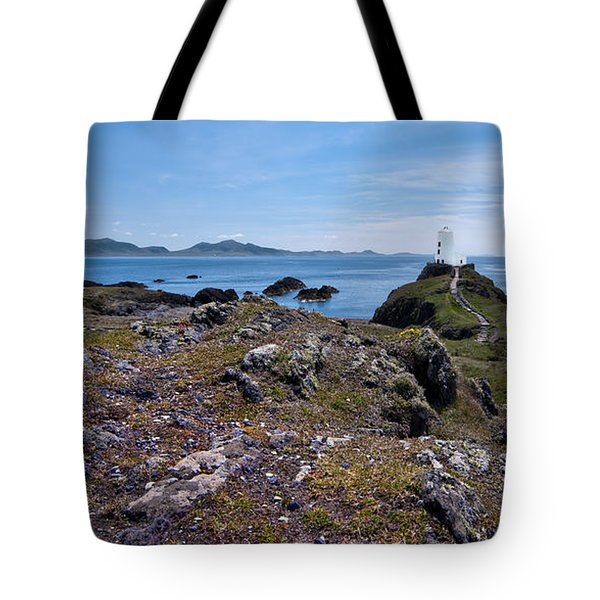 Llanddwyn Island Tote Bag by Meirion Matthias