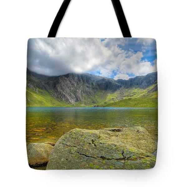 Llyn Idwal Tote Bag by Adrian Evans