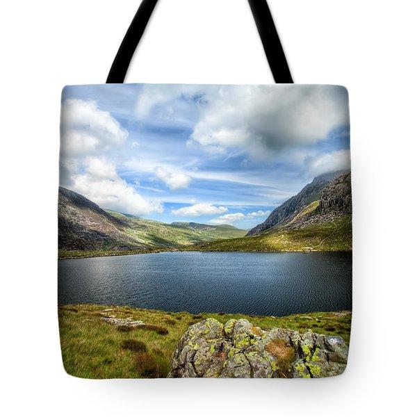 Llyn Idwal Lake Tote Bag by Adrian Evans