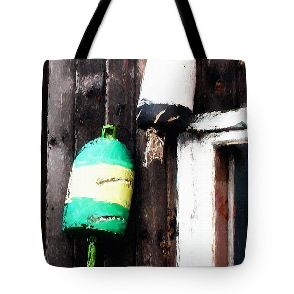 Lobster Buoys Tote Bag by Betty LaRue