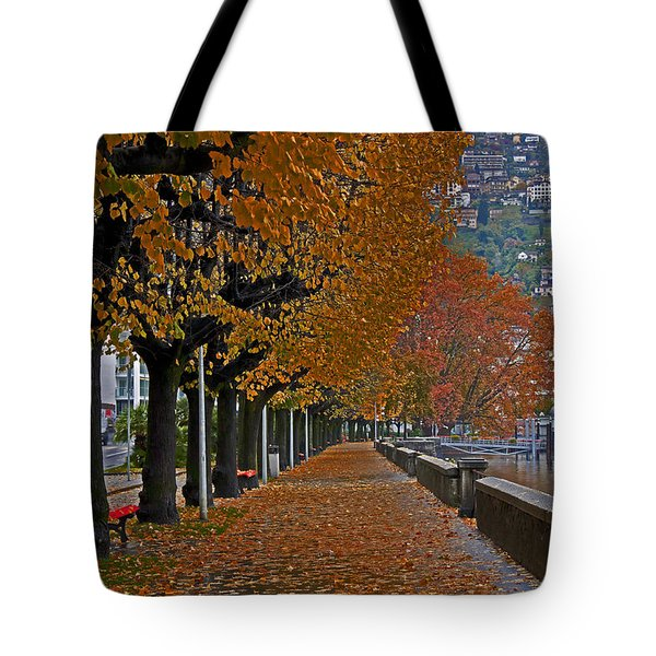 Locarno In Autumn Tote Bag by Joana Kruse