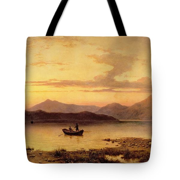 Loch Etive From Bonawe In The Evening Tote Bag by George Edwards Hering