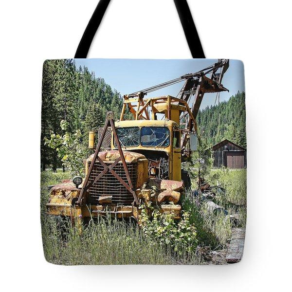 Logging Truck - Burke Idaho Ghost Town Tote Bag by Daniel Hagerman